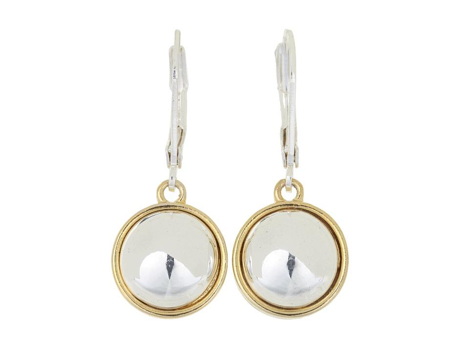 LAUREN Ralph Lauren - 12MM Button Drop (Gold/Silver) Earring