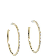 LAUREN Ralph Lauren - Medium Circle Pave Hoops