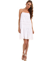 Tibi - Eyelet Embroidery On Cotton Voile Strappy Dress
