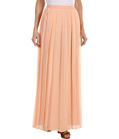 Tibi - Solid Silk Chiffon Pleated Skirt
