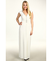 Laundry by Shelli Segal - Cap Sleeve Jersey Beaded Gown