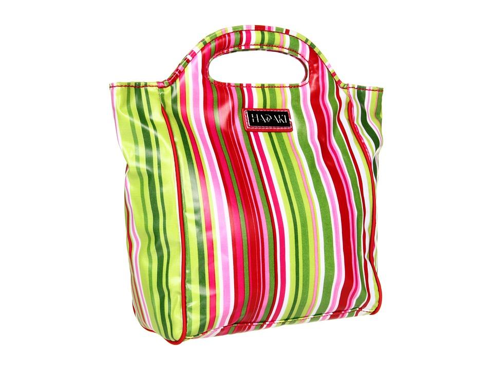 Hadaki Jazz Stripes Insulated Coated Lunch Pod (Jazz Stripes Ruby) Cosmetic Case