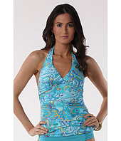 LAUREN Ralph Lauren - Seaside Paisley Shirred Twist Halterkini Slimming Fit