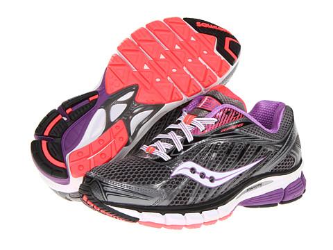Saucony - Ride 6 W (Grey/Purple/Vizipro Coral) - Footwear
