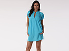LAUREN Ralph Lauren - Crushed Cotton S/S Darcy Tunic (Resort Blue)