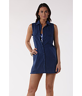 LAUREN Ralph Lauren - Crushed Cotton S/L Shirtdress