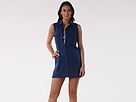 LAUREN Ralph Lauren - Crushed Cotton S/L Shirtdress (Indigo)