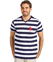U.S. Polo Assn - V-neck T-shirt with Medium Stripe