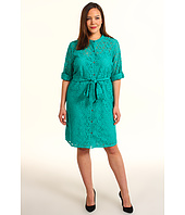 DKNYC - Plus Size 3/4 Sleeve Button Thru Dress