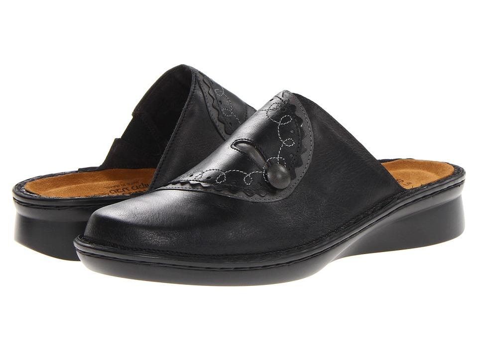 Naot Footwear - Encore (Black Raven Leather/Shadow Gray Nubuck) Women