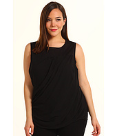 DKNYC - Plus Size Sleeveless Top W Chiffon Dress