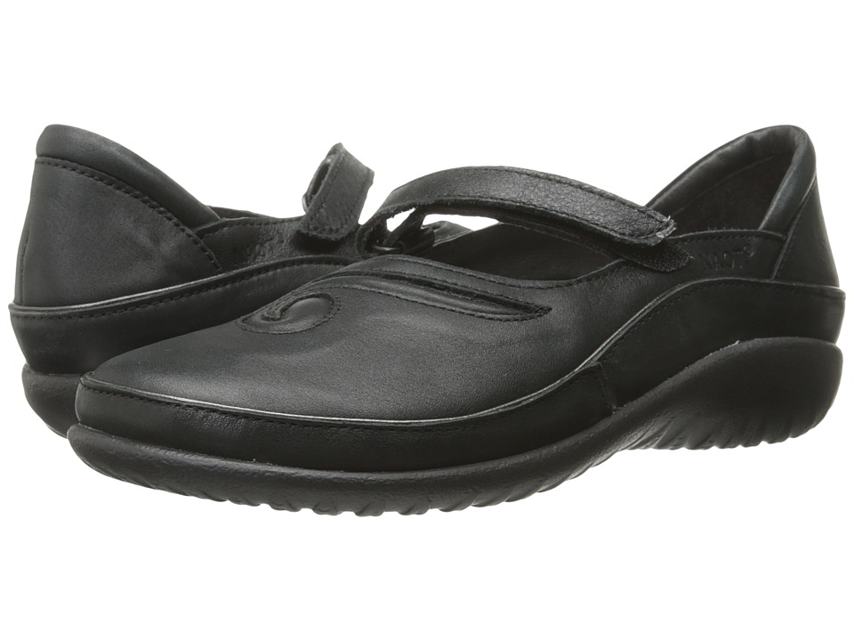 Naot Footwear Matai (Black Leather) Maryjane Shoes