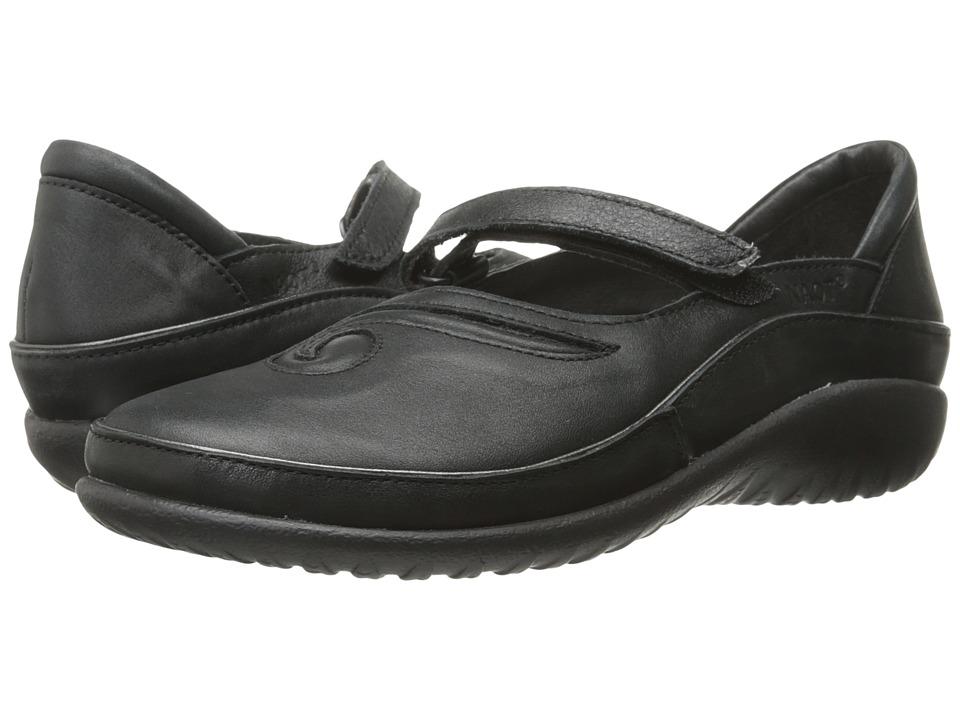 Naot Matai (Black Leather) Maryjanes