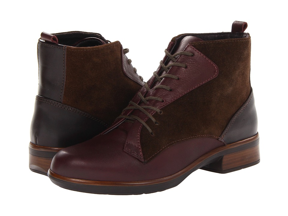 Naot Footwear - Mistral (Shiraz Leather/Hash Suede/French Roast Leather) Women