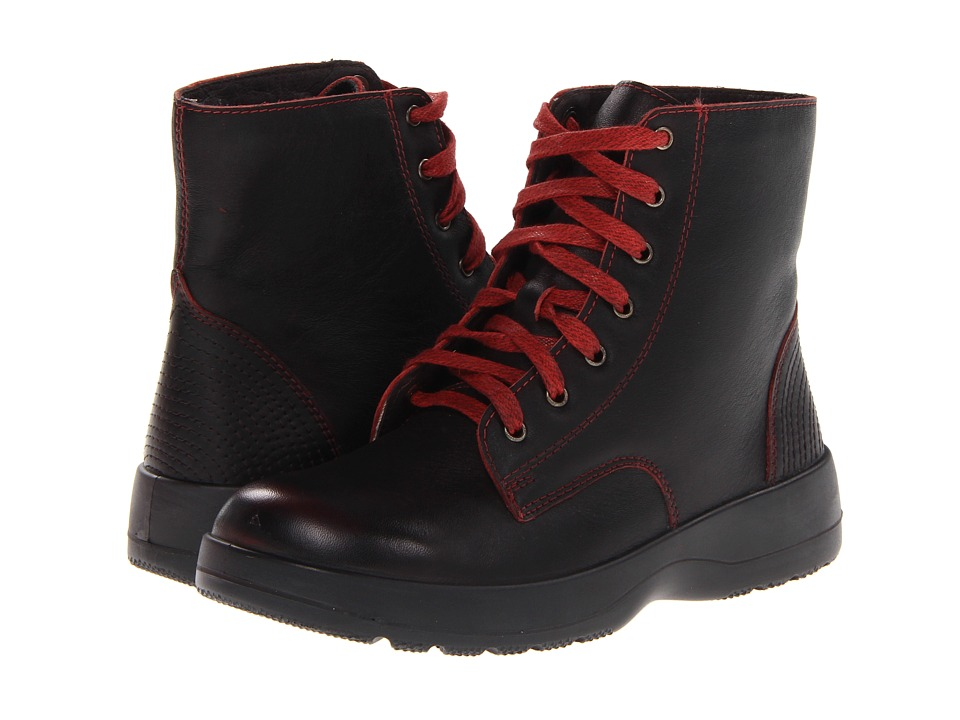 Naot Footwear Caribou Volcanic Red Leather Womens Boots
