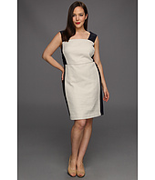DKNYC - Plus Size Cap Sleeve Dress w/ Eyelet Straps