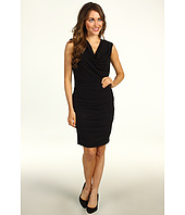 Nicole Miller - Tucked Stretchy Matte Jersey Dress