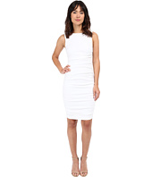 Nicole Miller - Stretch Linen Sleeveless Tucked Dress
