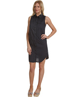 Three Dots - Sleeveless Shirt Dress w/ Woven Detail