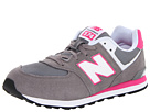 New Balance Kids KL574 Big Kid Grey, Pink Shoes