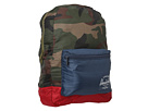 Herschel Supply Co. Packable Daypack (Woodland Camo/Navy/Red)