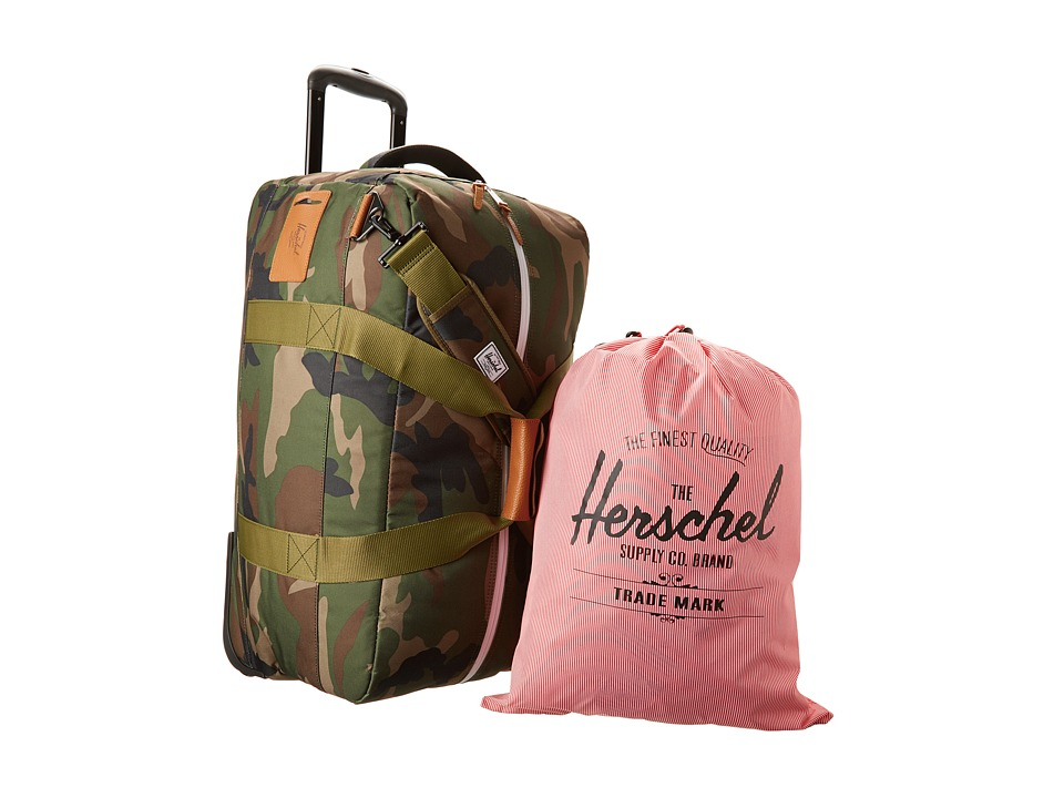 Herschel Supply Co. - Wheelie Outfitter (Woodland Camo) Carry on Luggage
