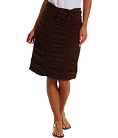 XCVI - Double Shirred Panel Knee Length Skirt