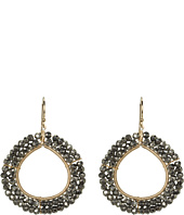 NUNU - Beaded Hoop Drop Earring