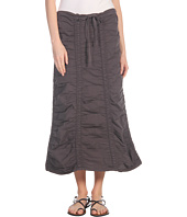 XCVI - Stretch Poplin Double Shirred Panel Skirt