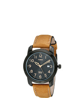 Timex - Elevated Classics Black Dial, Tan Leather Strap Watch