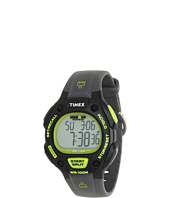 Timex - IRONMAN® Traditional 30-Lap Full-Size Black/Green Resin Strap Watch