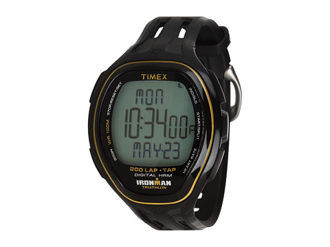 Timex IRONMAN® Target Trainer Heart Rate Monitor TapScreen Black/Yellow Resin Strap Watch