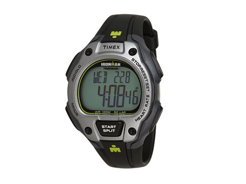 Timex IRONMAN® Road Trainer Heart Rate Monitor Black/Gray/Lime Green Resin Strap Watch