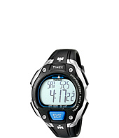 Timex - IRONMAN® Road Trainer Heart Rate Monitor Black/Silver-Tone/Blue Resin Strap Watch