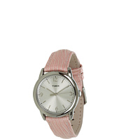 Timex - Mix It Silver/White Dial, Soft Pink Metallic Lizard Patterened Leather Strap Watch