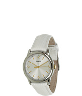Timex - Mix It Silver/White Dial, White Metallic Lizard Patterned Leather Strap Watch