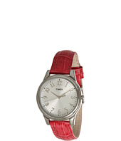 Timex - Mix It Silver/White Dial, Pink Croco Patterned Leather Strap Watch