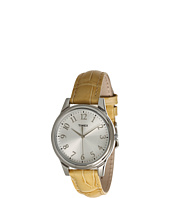 Timex - Mix It Silver/White Dial, Beige Croco Patterned Leather Strap Watch