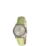 Timex - Mix It Silver/White Dial, Light Green Metallic Lizard Patterned Leather Strap Watch