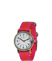 Timex - Weekender Pink With Orange Stripe Slip Thru Nylon Strap Watch