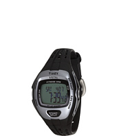 Timex - Zone Trainer Heart Rate Monitor Black/Silver-Tone Resin Strap Watch
