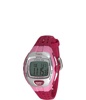 Timex - Zone Trainer Heart Rate Monitor Pink/Silver-Tone Resin Strap Watch