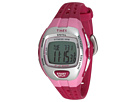 Timex Zone Trainer Heart Rate Monitor Pink/Silver-Tone Resin Strap Watch