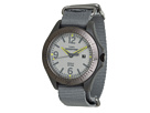 Expedition® Aluminum Camper Gray Nylon Slip Thru Strap Watch