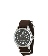 Timex - Expedition® Military Field Black Dial, Brown Ultrasuede Slip Thru Strap Watch