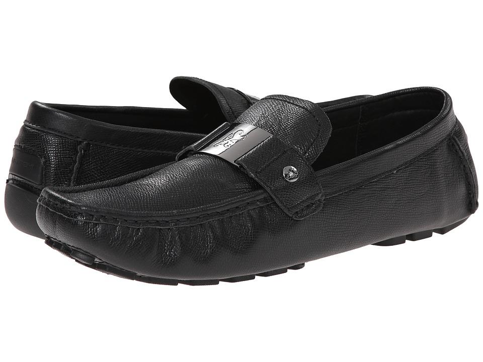 BUGATCHI Miro Black Mens Slip on Shoes