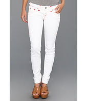 True Religion - Stella Skinny Contrast Red Super T in White Zuma