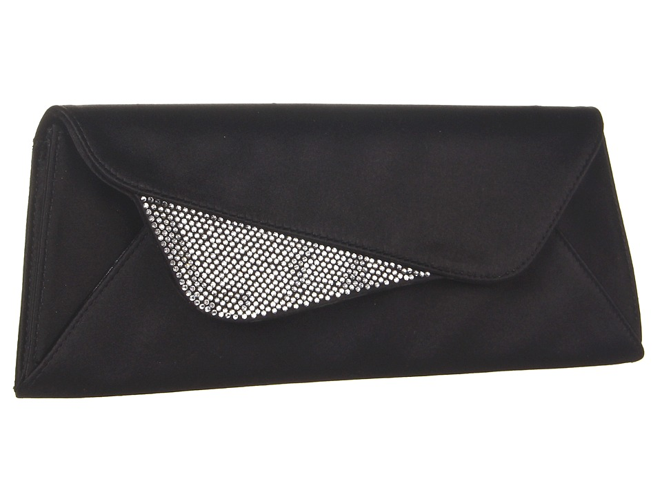 Stuart Weitzman - Sail (Black Satin) Clutch Handbags
