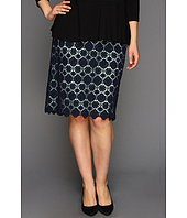 Vince Camuto - Plus Size Embroidered Lace Pencil Skirt