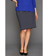 Vince Camuto - Plus Size Stripe Pencil Skirt